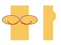 Ill-fitting bra on Person B